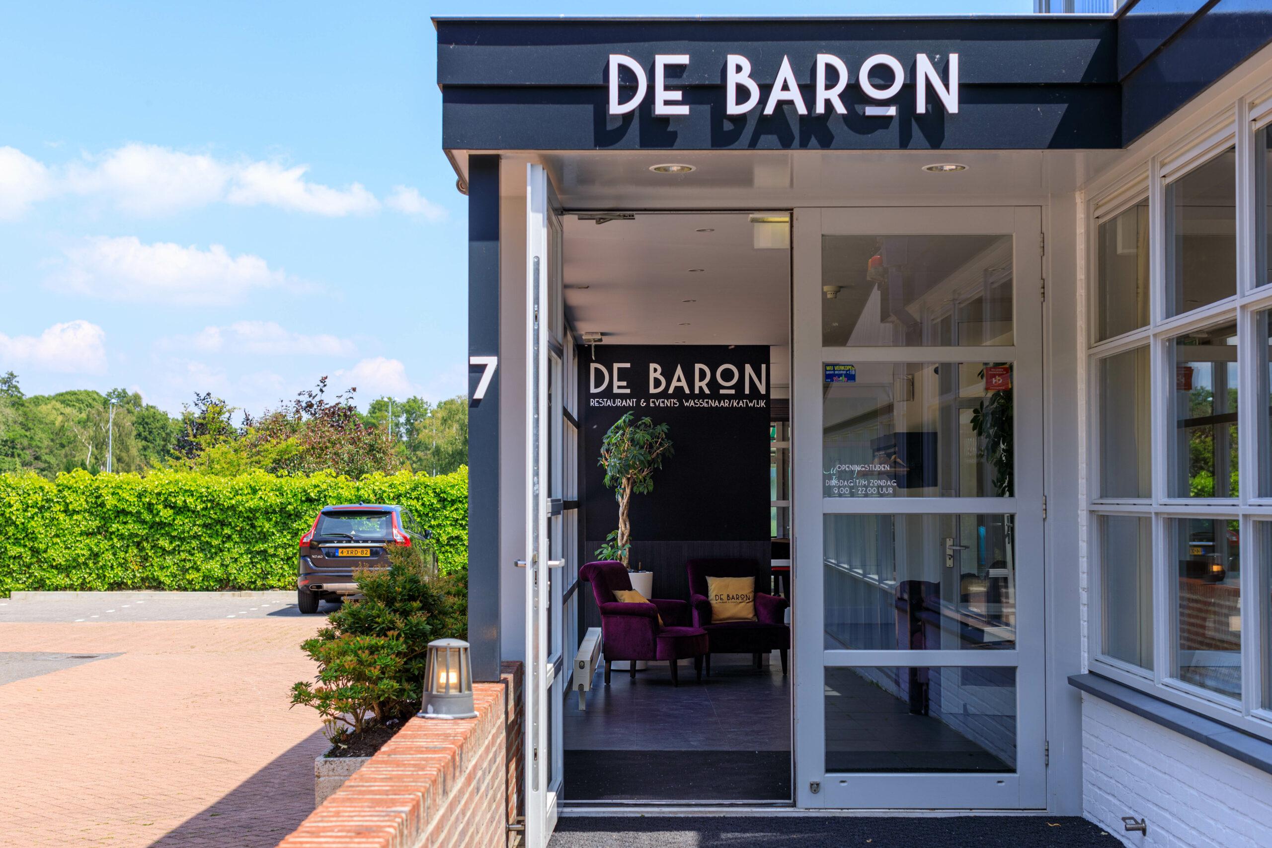 De Baron restaurant & events Wassenaar Ingang Welkom