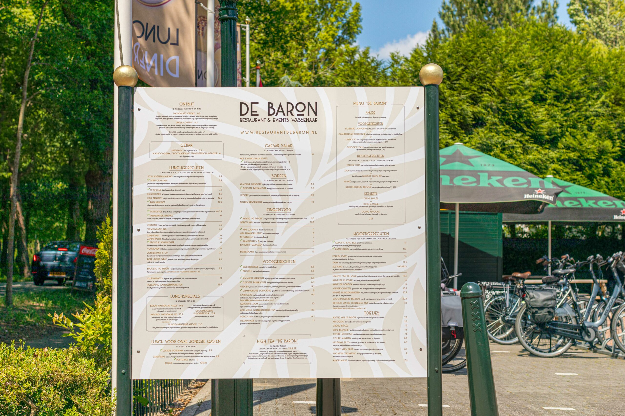 De Baron restaurant & events Wassenaar Menu Outside