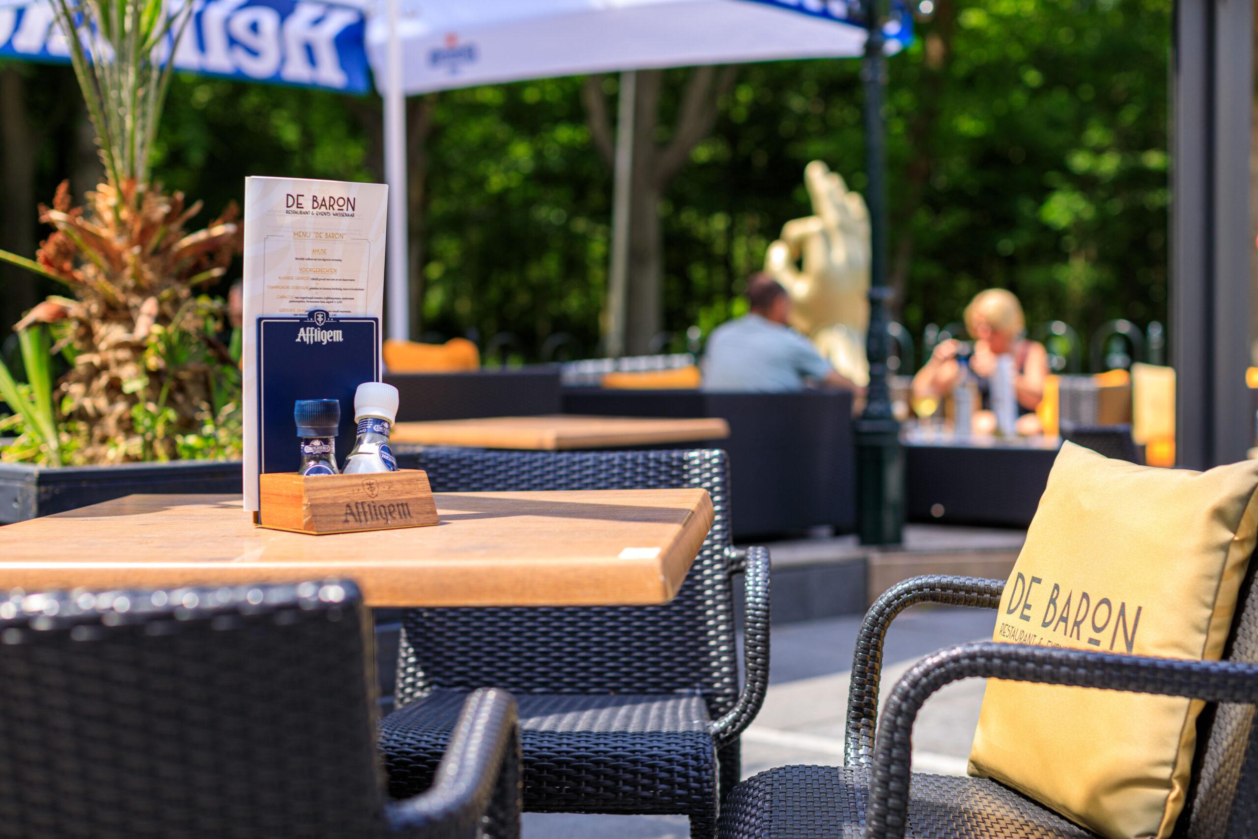 De Baron restaurant & events Wassenaar Terras Tafel